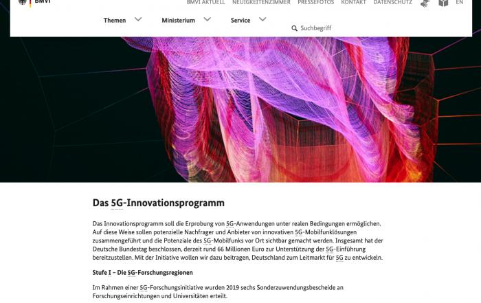 Screenshot Webseite BMVI